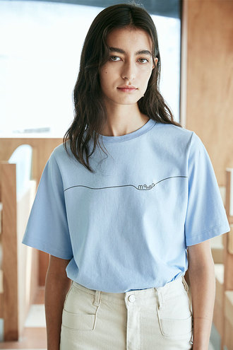 [5/10 순차발송]Allo Short Sleeves T-Shirt_Light Blue